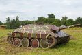 German self propelled gun hetzer on the field Stock Images