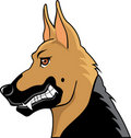German shepherd cartoon profile Stock Photo