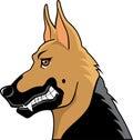 German shepherd cartoon profile Stock Photo