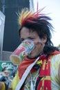 German Soccer Fan Royalty Free Stock Photo