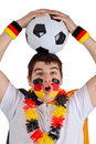German soccer fan Stock Images