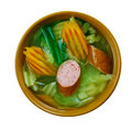 German soup with savoy cabbage Royalty Free Stock Photo