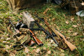 German and Soviet russian military ammunition weapon of World Wa