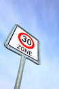 German speed limit sign Stock Image