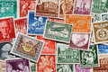 German stamps background a created with old various from germany Royalty Free Stock Image
