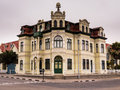 German style building in the namibian town of swakopmund ornate architecture corner Royalty Free Stock Photography