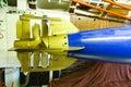 German submarine - torpedo compartment Royalty Free Stock Photo