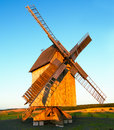German traditional windmill Royalty Free Stock Photos