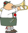German Trombone Player Royalty Free Stock Photo