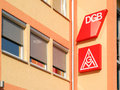 German unions offices of the dgb and the igm two labour Stock Photography