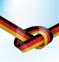 Germanic ribbon flag on background Royalty Free Stock Photography