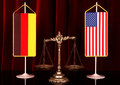 Germany and American Justice Royalty Free Stock Photo