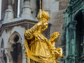 Germany bavaria munich marienplatz with st mary s column and church of our lady Stock Photography