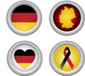 Germany Buttons Royalty Free Stock Photo