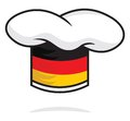 Germany chef hat vector illustration of the Royalty Free Stock Photos