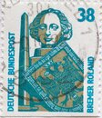 GERMANY - CIRCA 1989: a postage stamp from Germany, showing sights in Germany. Roland Column Bremen