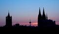 Germany, Cologne, Skyline Royalty Free Stock Photo