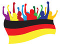Germany fans illustration Royalty Free Stock Images
