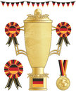 Germany football trophy Stock Images
