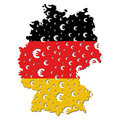 Germany map flag euro grunge Royalty Free Stock Photo