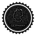 Germany Map Label with Retro Vintage Styled.