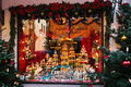 Germany, Rothenburg ob der Tauber, December 30, 2017: Storefront. Kathe Wohlfahrt Christmas decorations and toy shop. A Royalty Free Stock Photo