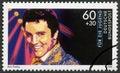 GERMANY - 1988: shows Elvis Presley (1935-1977), series Rock Stars Royalty Free Stock Photo