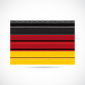 Germany siding produce business company icon illustration Royalty Free Stock Images