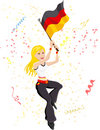Germany Soccer Fan Royalty Free Stock Image