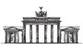 Germany vector logo design template. monument or Royalty Free Stock Photo