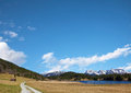 Geroldsee in bavaria, blue sky background Royalty Free Stock Photo