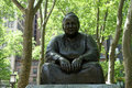 Gertrude stein statue a of author in bryant park new york city Stock Image