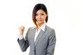 Geschäftsfrau die erfolg genießt Lizenzfreies Stockfoto