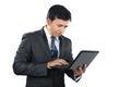 Geschäftsmann working on laptop Lizenzfreie Stockfotos