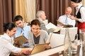 Geschäftsmittagessenleitprogramme, die Menügaststätte schauen Lizenzfreies Stockfoto