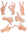 Gestures of hands Royalty Free Stock Photo