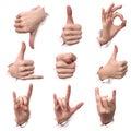 Gestures of hands Stock Photos