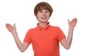 Gesturing boy Royalty Free Stock Image