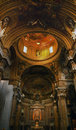 Gesu Jesuit Church Inside Golden Dome Rome Italy Royalty Free Stock Photo