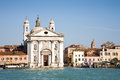 Gesuati church venice the or st mary of the rosary on the giudecca canal of italy Stock Images