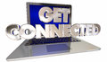 Get Connected Computer Laptop Link Internet Website Royalty Free Stock Photo