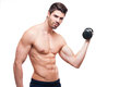 Get fit portrait of a very handsome young man working out Royalty Free Stock Images