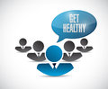 Get healthy message sign illustration design Royalty Free Stock Photo