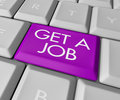 Get a Job Computer Key Royalty Free Stock Images