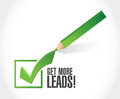 Get More Leads approval check mark sign Royalty Free Stock Photo