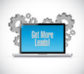 Get More Leads tech connections sign Royalty Free Stock Photo