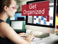Get Organized Management Set Up Organization Plan Concept Royalty Free Stock Photo
