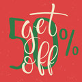 Get 50 percent Off Sale Poster.