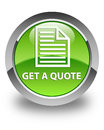 Get a quote (page icon) glossy green round button