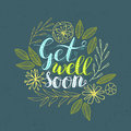 Get well card. Royalty Free Stock Photo